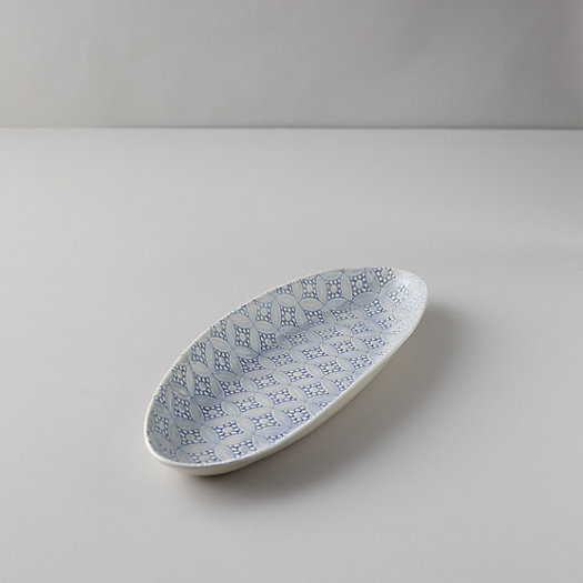 View larger image of Color Washed Geo Lace Serving Platter