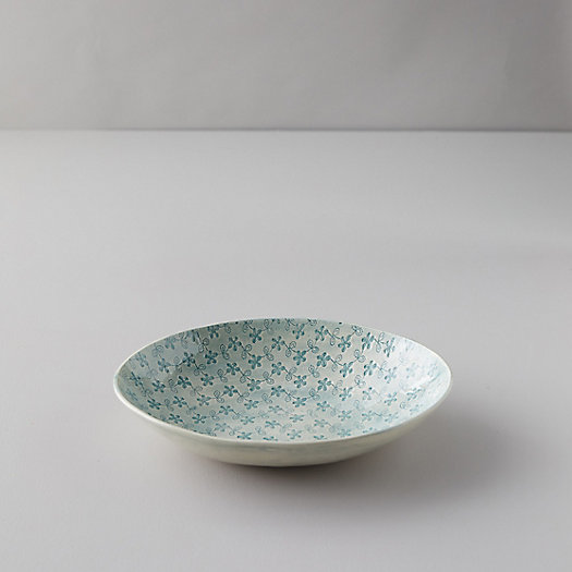 View larger image of Color Washed Floral Serving Bowl