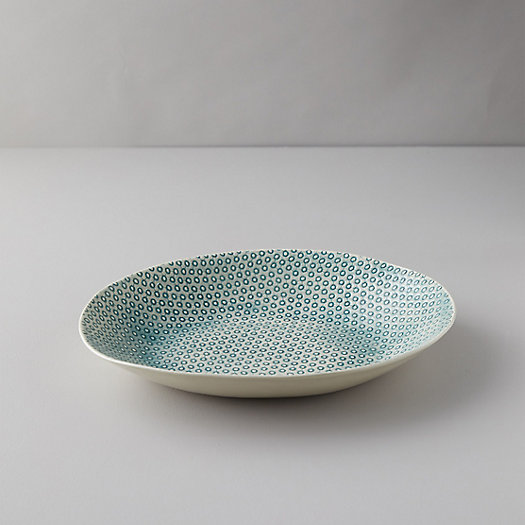 View larger image of Color Washed Marine Dot Serving Bowl