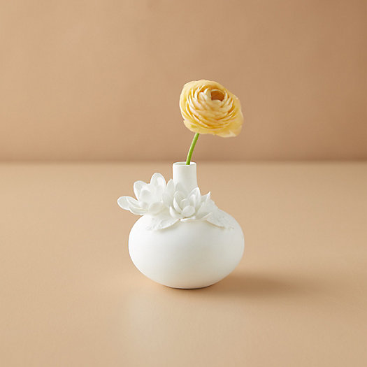 View larger image of Porcelain Bud Vase, Dahlia