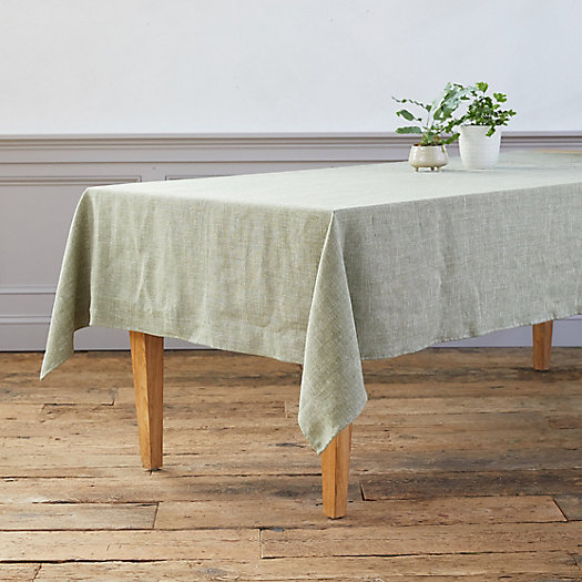 View larger image of Shimmer Linen Tablecloth
