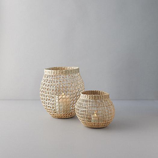View larger image of Seagrass Basket Lantern