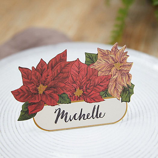 View larger image of Poinsettia Place Cards, Set of 12