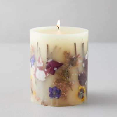 Pressed Botanical Candle, Pumpkin + Cardamom