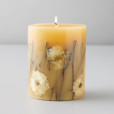 Pressed Botanical Candle, Honey Tobacco