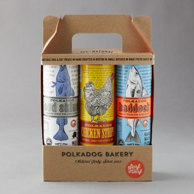 Polkadog Bakery Dog Treat Gift Set, Surf n Turf