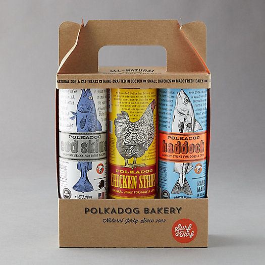 View larger image of Polkadog Bakery Dog Treat Gift Set, Surf n Turf