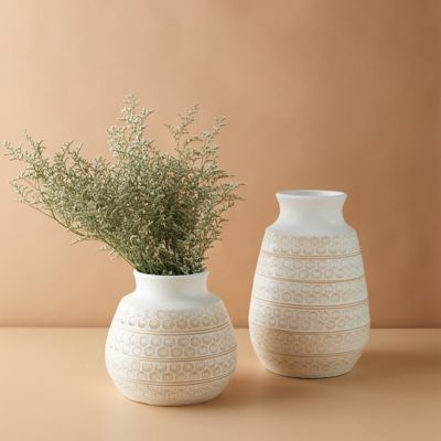 Clay Dotted Lines Vase