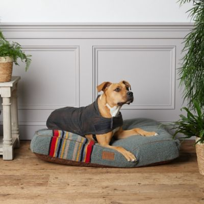 Weather-Resistant Plaid Waxed Canvas + Faux Sherpa Dog Coat