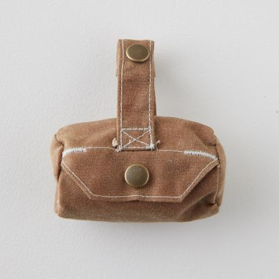 Waxed Canvas Dog Waste Bag Carrier