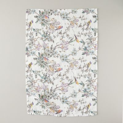 Botanical Bird Linen Tea Towel