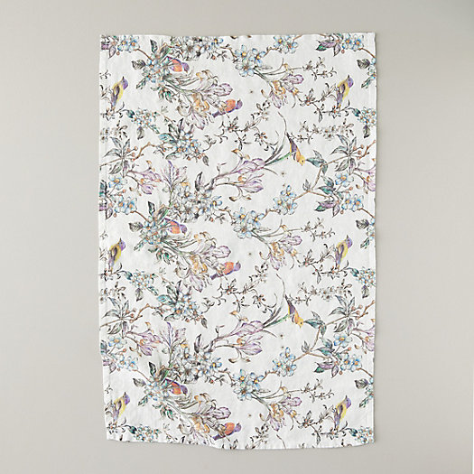 View larger image of Botanical Bird Linen Tea Towel