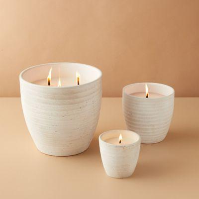 Ridged Ceramic Citronella Candle