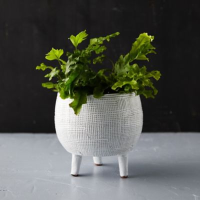 Crosshatch Footed Pot, Small