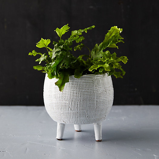 View larger image of Crosshatch Footed Pot, Small