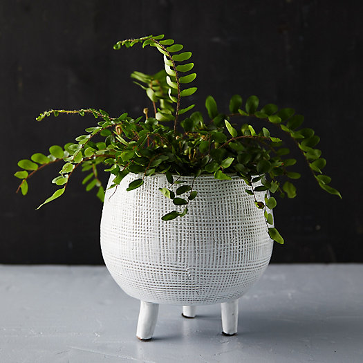 View larger image of Cross Hatch Footed Pot