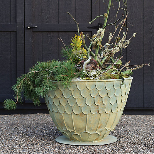 View larger image of Fiberglass Fishscale Planter