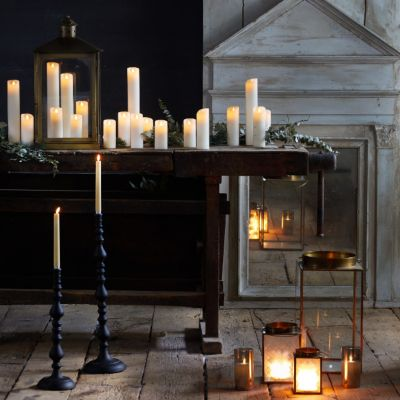Stargazer Flameless Cathedral Pillar Candle