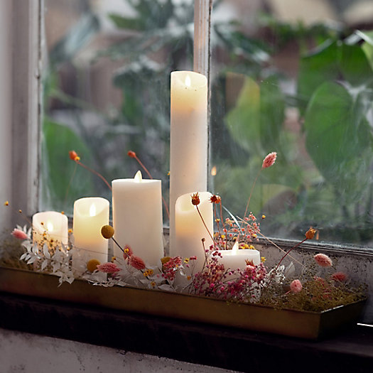 View larger image of Stargazer Flameless Cathedral Pillar Candle