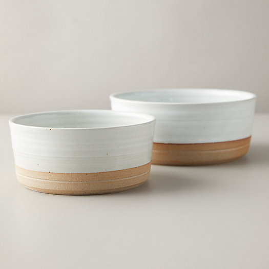 View larger image of Stoneware Pet Food and Water Bowl Set