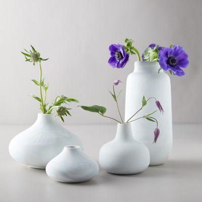 Color Swirl Vase, Gray