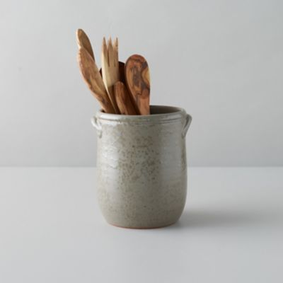 Gray Glaze Ceramic Utensil Holder