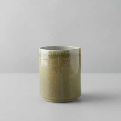 Green Glaze Ceramic Utensil Holder