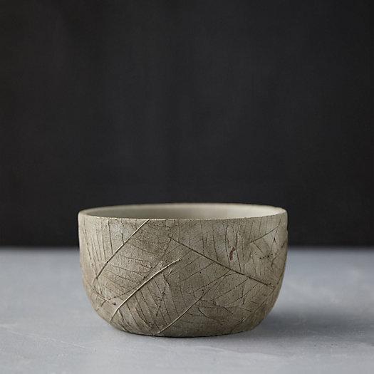 View larger image of Leaf Imprint Cement Bowl Pot