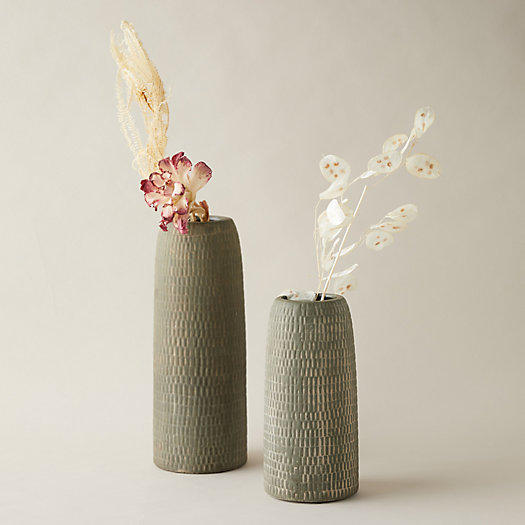 View larger image of Textured Stoneware Vase