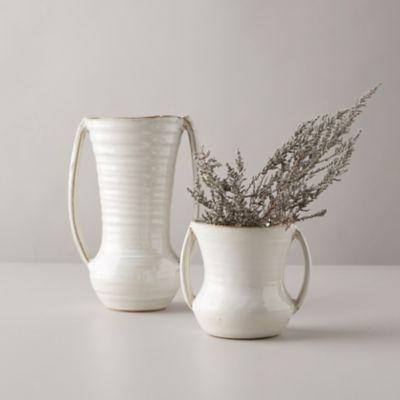 Vanilla Glossed Ceramic Vase