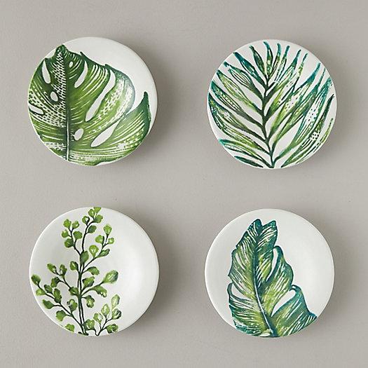 View larger image of Tropical Leaf Dessert Plates, Set of 4