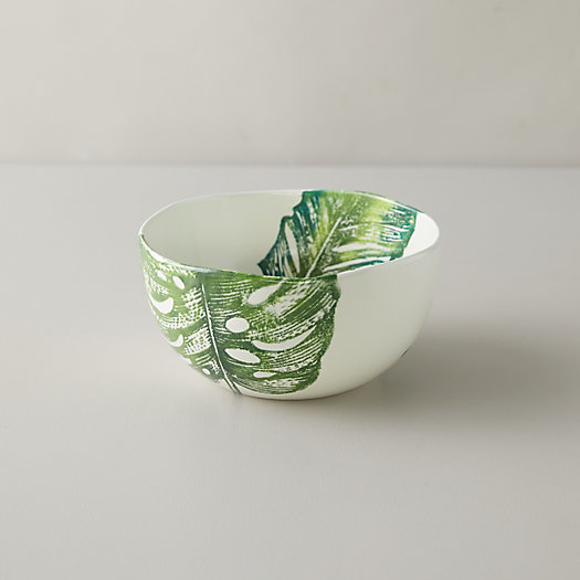 View larger image of Monstera Leaf Serving Bowl
