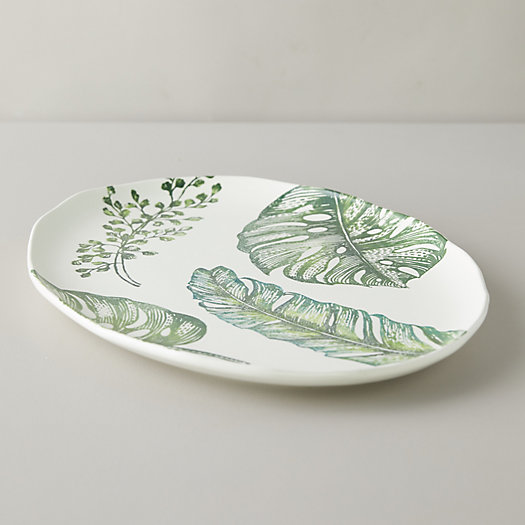 View larger image of Tropical Leaves Serving Platter