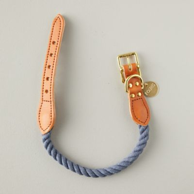Denim + Leather Pet Collar