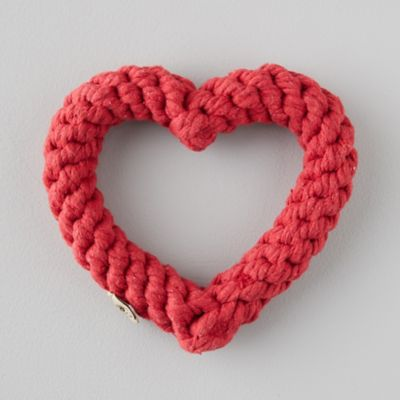 Red Heart Rope Dog Toy