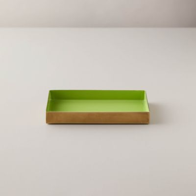 Enamel Decorative Tray, Moss Green