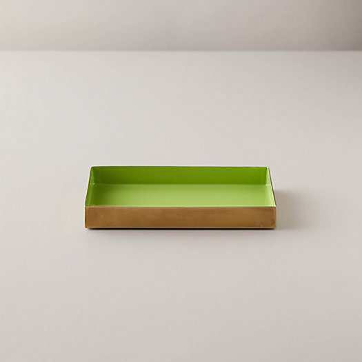 View larger image of Enamel Decorative Tray, Moss Green