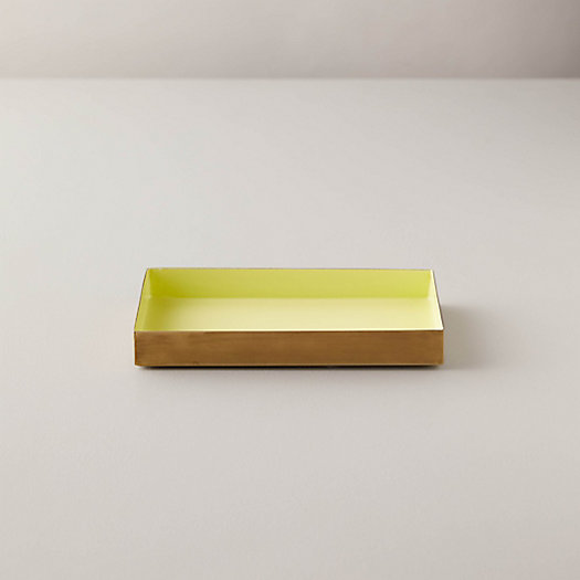 View larger image of Enamel Decorative Tray, Butter Yellow