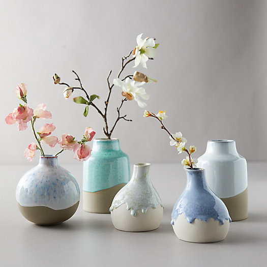 View larger image of Ceramic Color Drip Bulb Vase