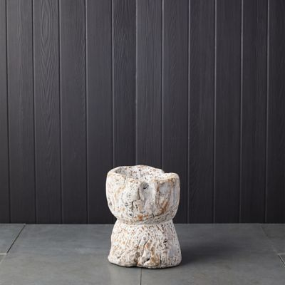 Antique Wood Pedestal Bowl