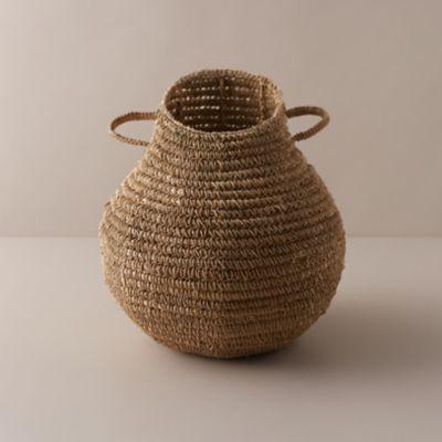 Asymmetrical Woven Grass Basket