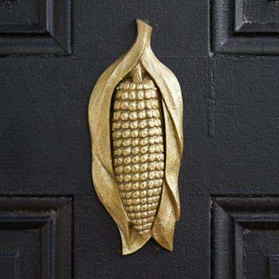 Brass Corn Husk Door Knocker