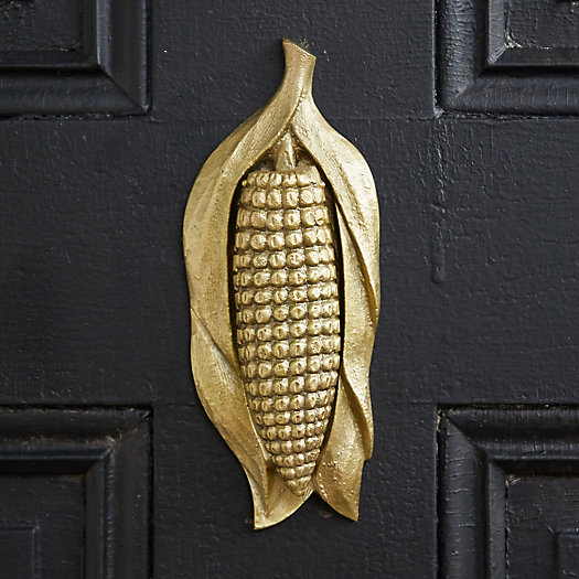 View larger image of Brass Corn Husk Door Knocker
