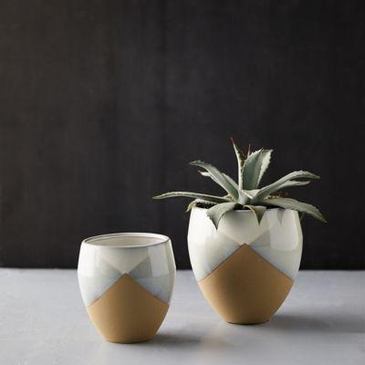 Stoneware Modern Geo Pot