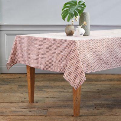 Guava Dot Cotton Tablecloth