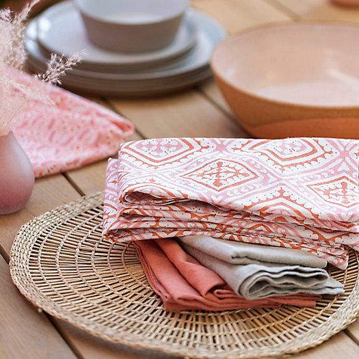 View larger image of Havana Block Print Cotton Napkin