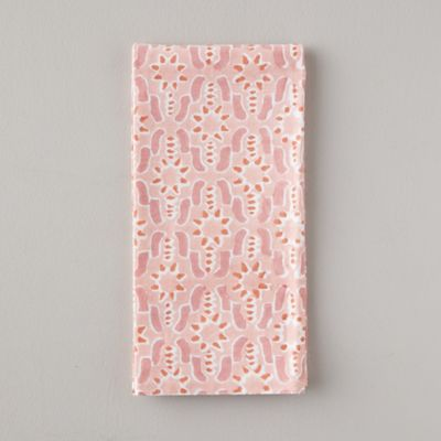 Geo Guava Block Print Cotton Napkin