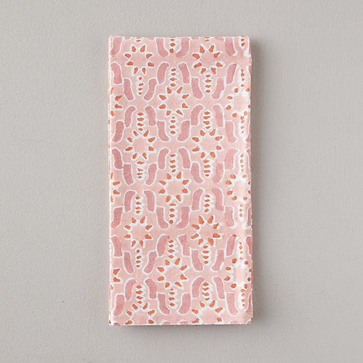 View larger image of Geo Guava Block Print Cotton Napkin