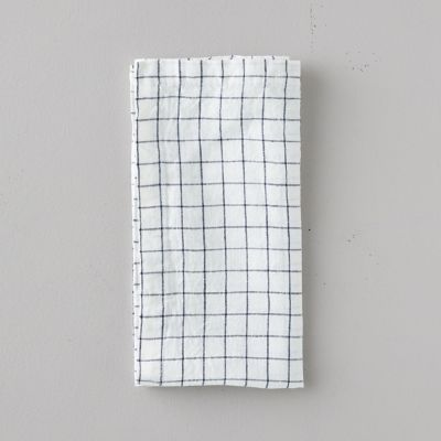 Lithuanian Linen Napkin, Stone Washed Check