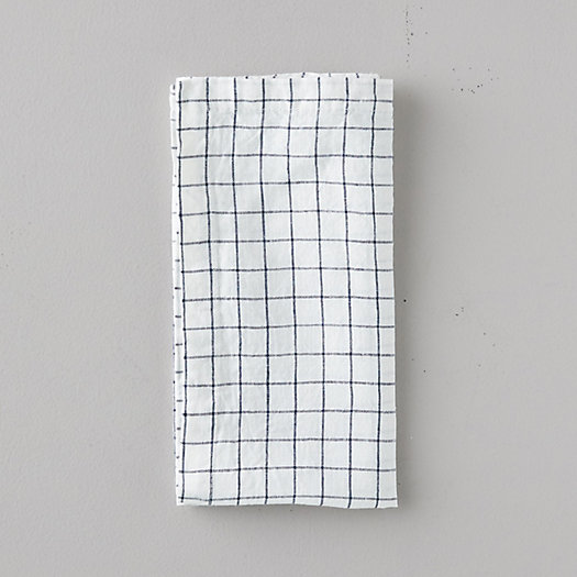 View larger image of Lithuanian Linen Napkin, Stone Washed Check